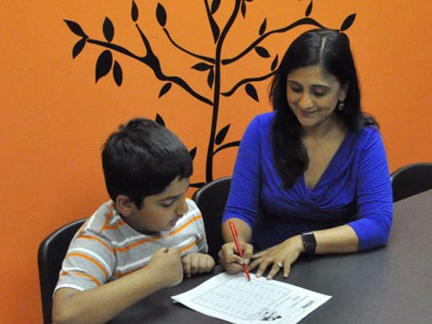 Priya Venkat of Best in Class Education teaching a student