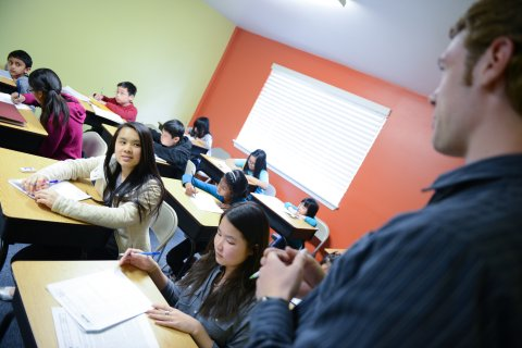 Students in the classroom with instructor